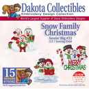 Dakota Collectibles Snow Family Christmas Embroidery Designs - 970382