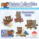 Dakota Collectibles Awesome Owls Embroidery Designs - 970395