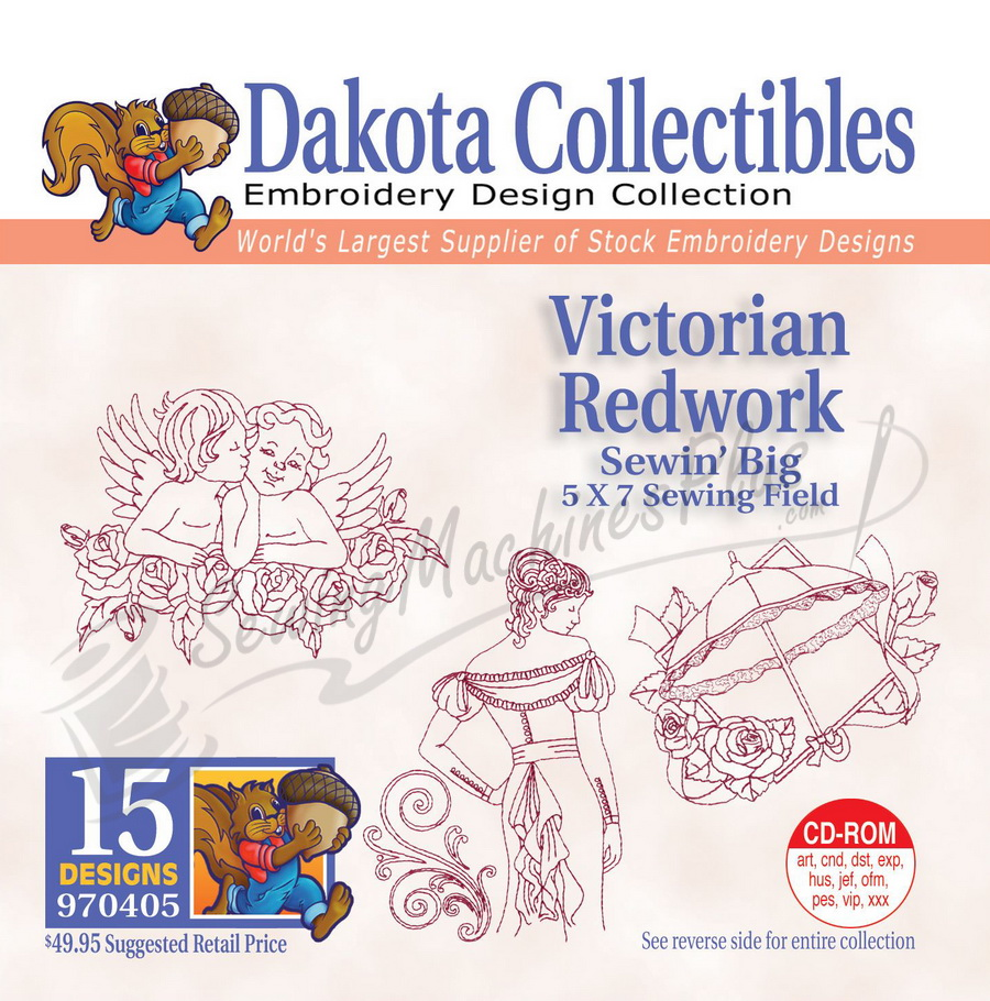 Dakota Collectibles Victorian Redwork Embroidery Designs 970405