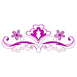 Floral Scroll Border