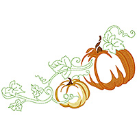 Pumpkins & Leaves
