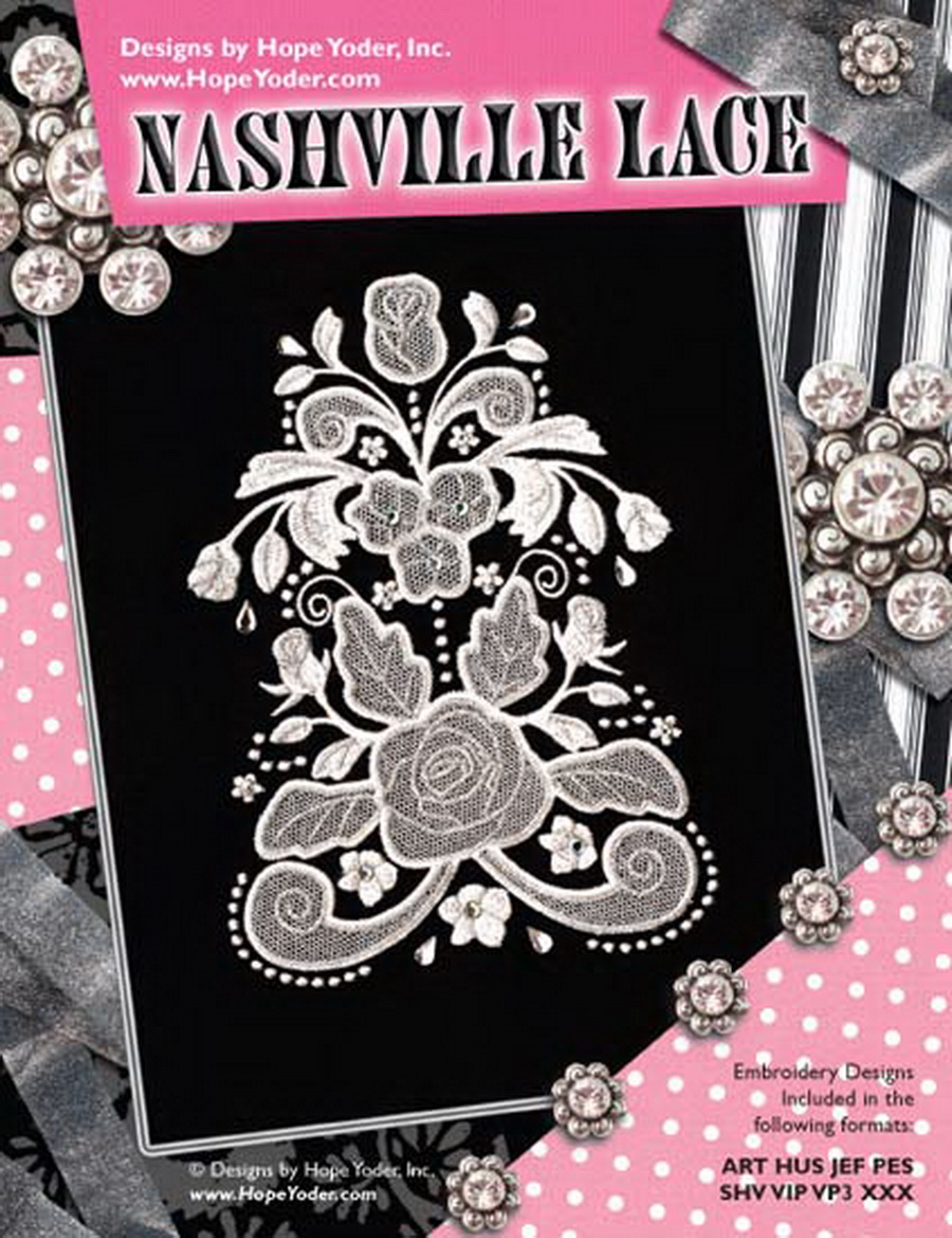 Nashville Lace Embroidery Cd Designs By Hope Yoder