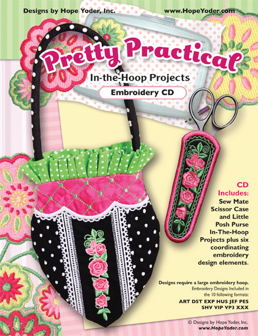 Pretty Practical In The Hoop Embroidery Cd Designs By