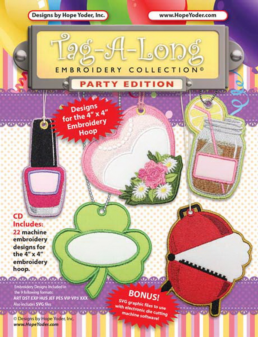 tag-a-long party edition embroidery cd w  svg