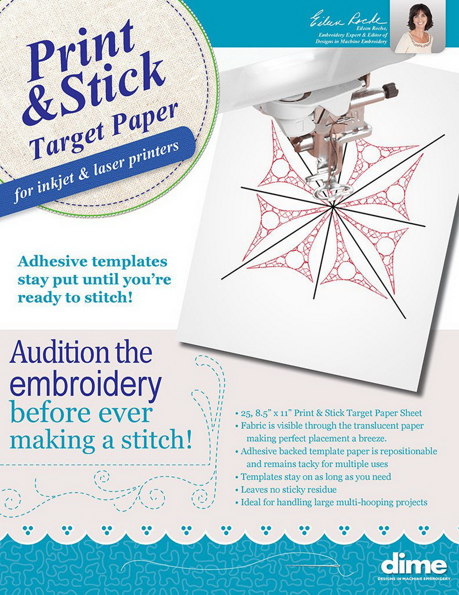 Dime Print And Stick Target Paper 25 Sheets