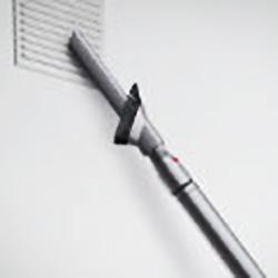 Longer wand reaches awkward areas