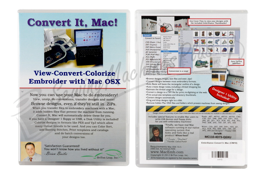 Embrilliance Convert It Mac Embroidery Software For Mac Cim10