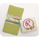 Embroidery Garden Note Pad Holders and Credit Card Wallet