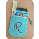 Embroidery Garden Cell Phone Pouch