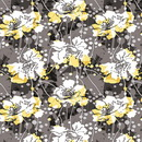 Black White and Citrus Fabric Kit