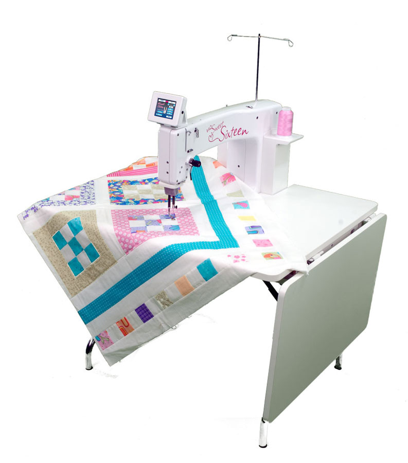 Handi Quilter Show Model Sweet Sixteen Sitdown Custom Free Arm Quilting Sewing Machine