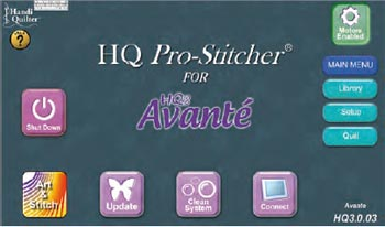 Pro Stitcher Main Screen