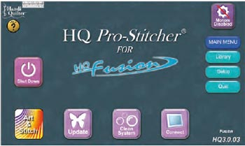 Pro-Stitcher Welcome Screen