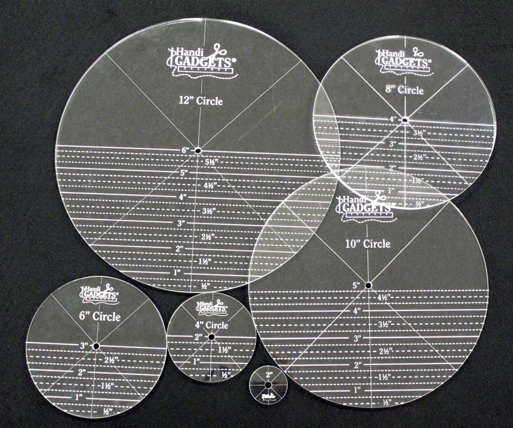quilters rulers and templates - handi quilter ruler set full circles templates