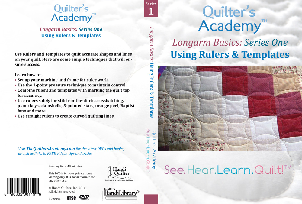 Quilter Longarm Basics: Using Rulers & Templates (DVD) : quilting rulers templates - Adamdwight.com