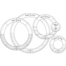 Handi Quilter Ring Templates Silver Set