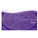 "HQ Oval A 12"",8"",4""  Ruler - HQ00617"