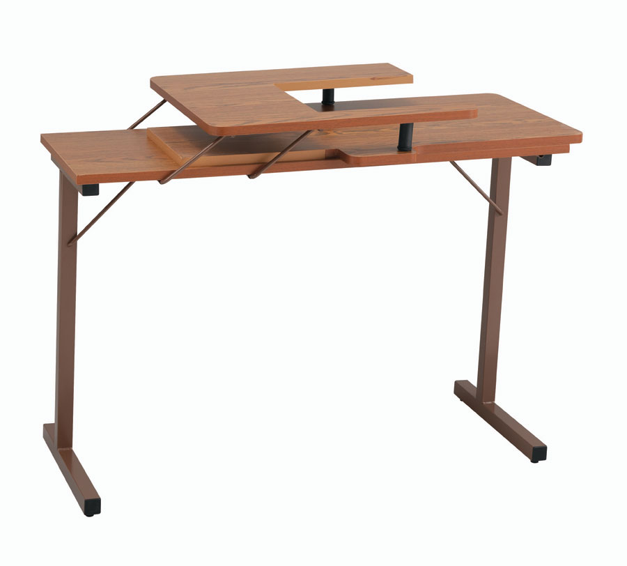 inspira folding sewing table oak. Black Bedroom Furniture Sets. Home Design Ideas