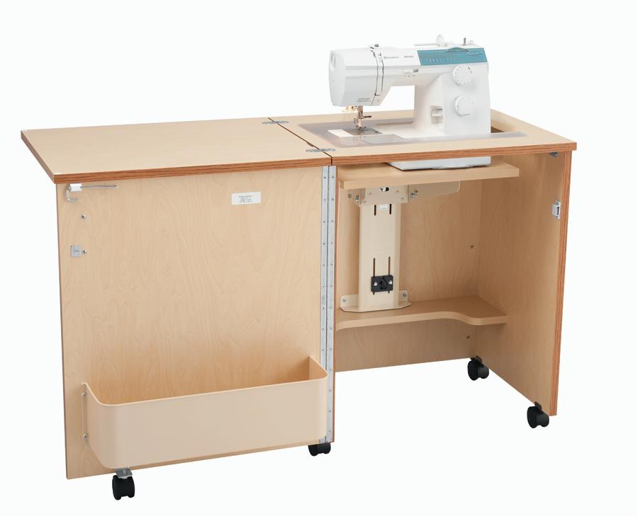 Compact Sewing Cabinet - Oak