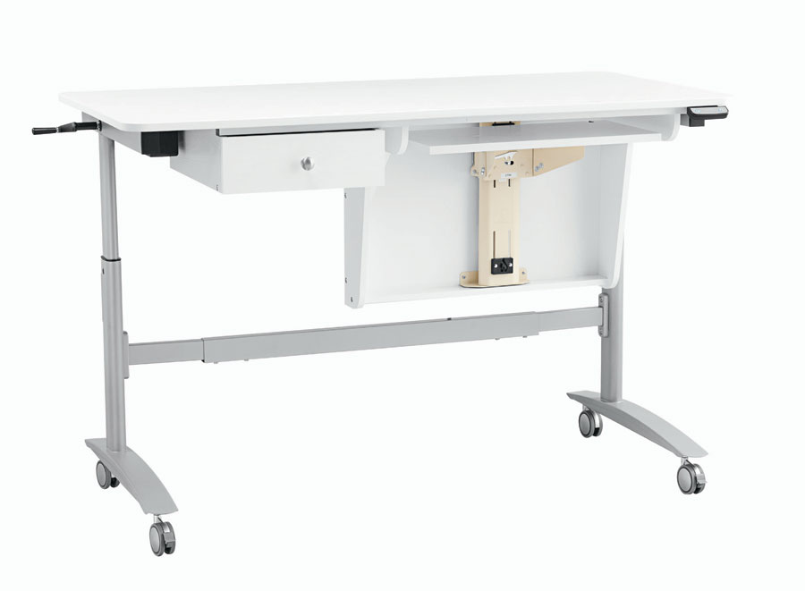 Inspira Electric Multi-Lift Sewing Table - White - ONLY $104/month