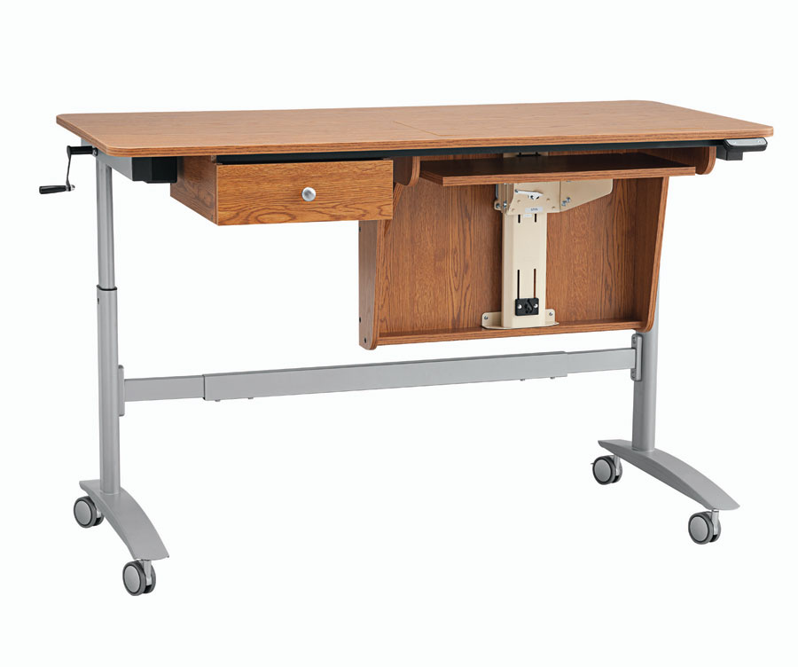 Inspira Electric Multi Lift Sewing Table Oak