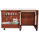 Photo of Inspira Create Cabinet in Teak or White from Heirloom Sewing Supply