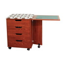 Photo of Inspira Inspiration Caddie in Teak or White from Heirloom Sewing Supply