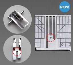 Stitch adjustment/needle position dials