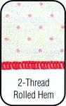 2 Thread Rolled Hem Stitch