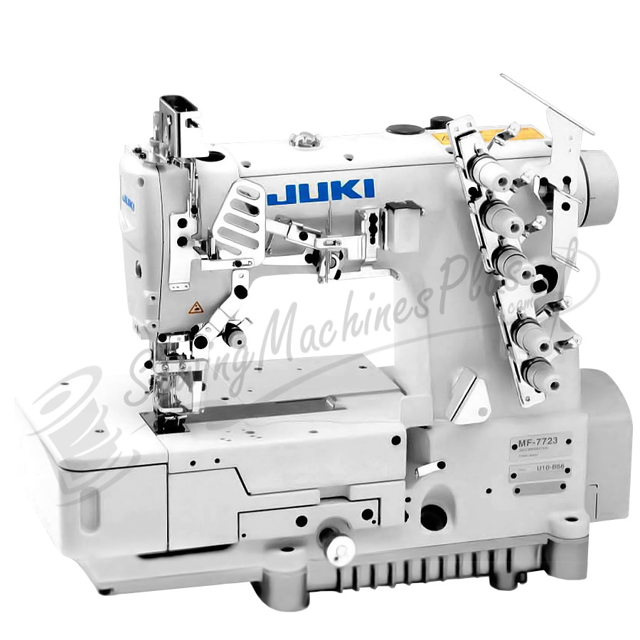 Juki MF-7523 - 3 Needle Coverstitch Industrial Machine w/ Table & Motor