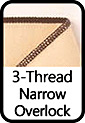 3-Thread Narrow Overlock