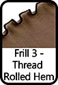 Frill 3-Thread Rolled Hem