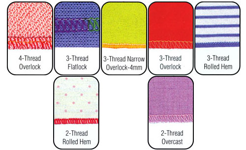 Serger Stitch Patterns