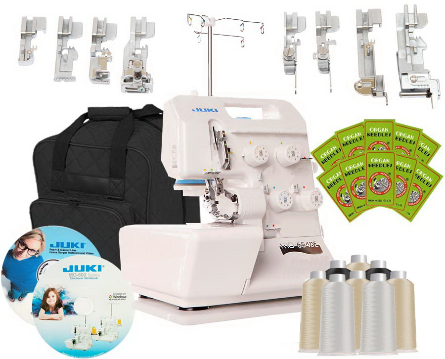 Juki Pearl Line MO-654DE 2/3/4 Thread Serger BONUS PACKAGE