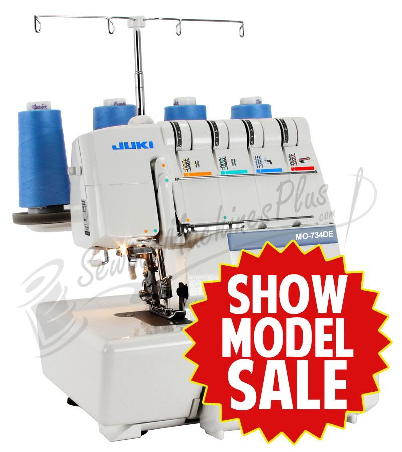 juki mo 734de show model 2 3 4 thread serger rh sewingmachinesplus com Overlock Sewing Machine eBay Juki Sergers Sewing Machines
