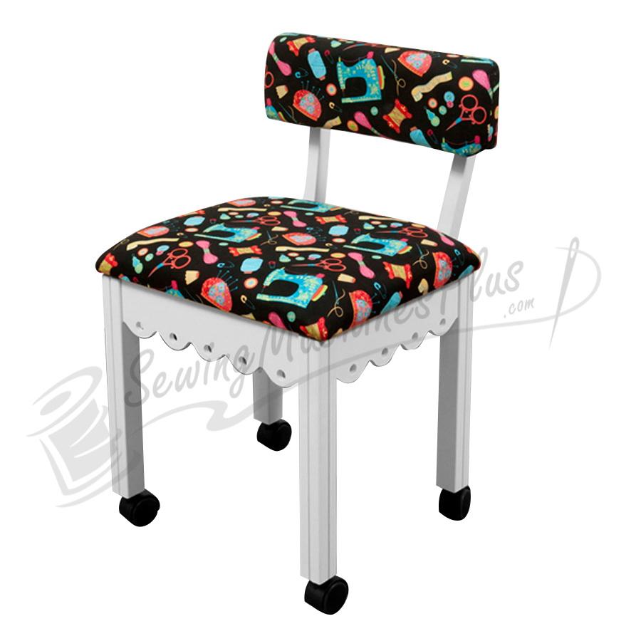 Stupendous Arrow Sewing Chair Black Riley Blake Fabric On Green 7014B Theyellowbook Wood Chair Design Ideas Theyellowbookinfo