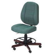 Photo of Koala Sewcomfort Chair Jade Cushion & Brazilian Cherry Base from Heirloom Sewing Supply