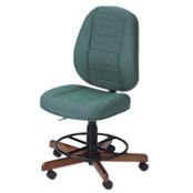 Photo of Koala Sewcomfort Chair Jade Cushion & American Walnut Base from Heirloom Sewing Supply