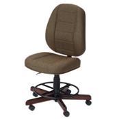 Photo of Koala Sewcomfort Chair Mocha Cushion & Brazilian Cherry Base from Heirloom Sewing Supply