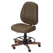 Photo of Koala Sewcomfort Chair Mocha Cushion & Canadian Maple Base from Heirloom Sewing Supply
