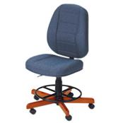 Photo of Koala Sewcomfort Chair Sapphire Cushion & American Birdseye Maple Base from Heirloom Sewing Supply
