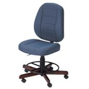 Photo of Koala Sewcomfort Chair Sapphire Cushion & Brazilian Cherry Base from Heirloom Sewing Supply