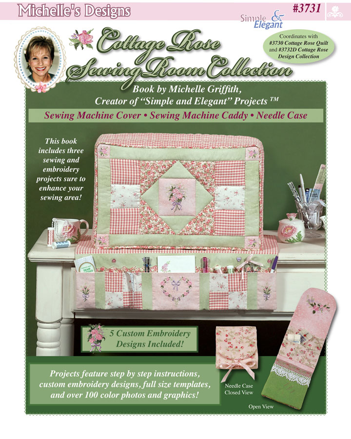 Book Cover Sewing Machines : Michelles designs cottage rose sewing room book and