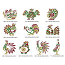 Momo-Dini Embroidery Designs - Roosters 2 (0600139)