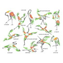 Momo-Dini Embroidery Designs - Crane (1000163)