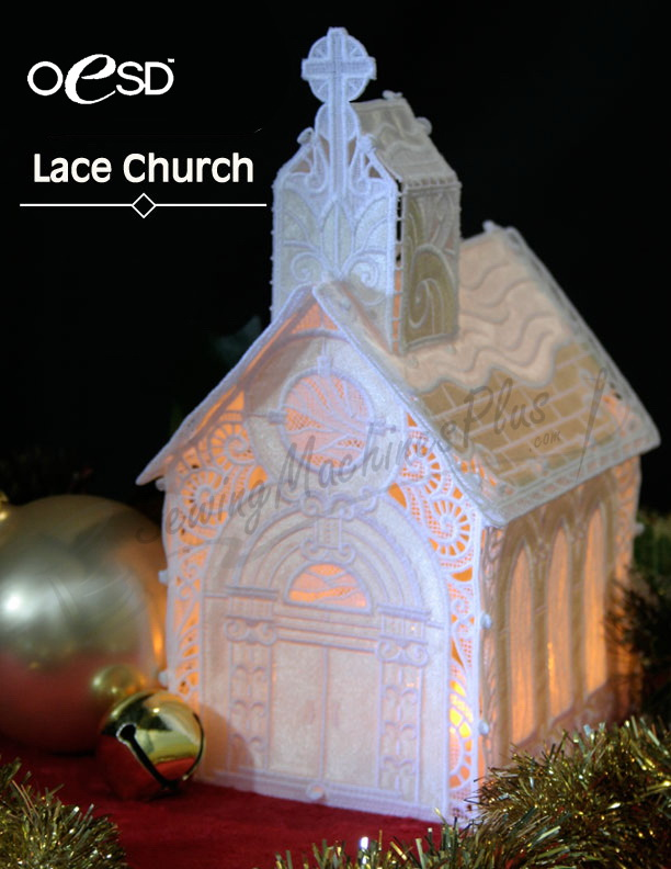 Stand Alone Lace Designs : Oesd free standing lace church collection