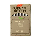 Organ Industrial Needles DBx17, 135X17 #22 10pk.