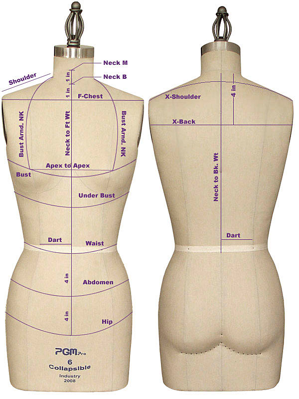 How to Measure PGM Dress Forms