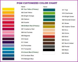 PGM Dress Forms Custom Color Chart