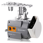 Reliable 4210SW Single Needle Lockstitch Walking Foot Sewing Machine and Uberlight 3100TL Light Lamp